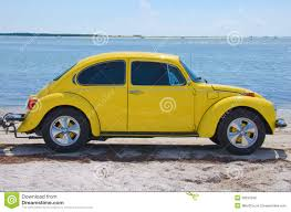 yellow volkswagen beetle royalty free restored vintage 1974 volkswagen super beetle stock photo image