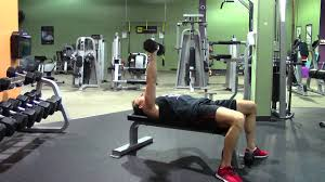 Dumbbell Exercises Chest No Bench - one arm dumbbell bench press hasfit chest exercise demonstration