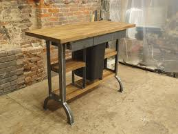 hand crafted kitchen tables hand made modern industrial kitchen island console table by