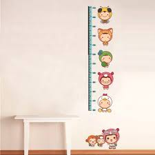 new kids growth height chart measure wall stickers giraffe panda kids growth height chart measure wall stickers