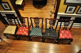 Recovering Dining Room Chair Cushions Articles With Reupholster Dining Chair Seat Cost Tag Charming