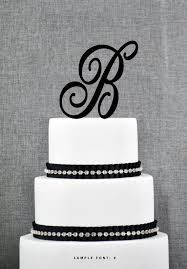 b cake topper personalized monogram initial wedding cake toppers letter b