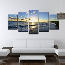 Wall Art Sets For Living Room Amazon Com Ready2hangart Chris Doherty U0027day Break U0027 5 Piece Canvas