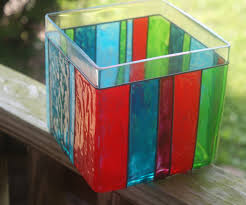 Stained Glass Vase Gallery Glass Striped Vase Tutorial