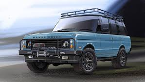 matte blue range rover ecd automotive design custom land rover defender shop