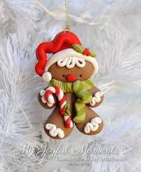 handcrafted polymer clay gingerbread ornament