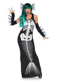 Skeleton Halloween Costume Kids Mermaid Costumes Child Little Mermaid Costumes
