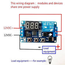 12v led home automation delay timer control switch relay module