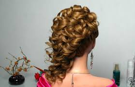 curly prom wedding hairstyle for long hair youtube