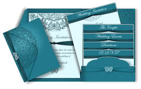 teal wedding invitations butterfly henna pattern email wedding invitation