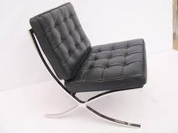 furniture unique black leather barcelona chair replica with