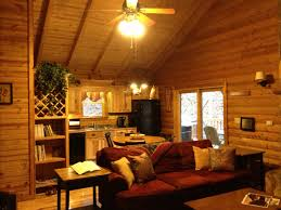 beautiful crane log cabin in lake mohawk tapinto living room