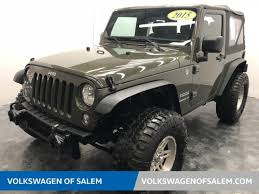 jeep tank for sale used 2015 jeep wrangler suv sport 4x4 tank for sale in salem or