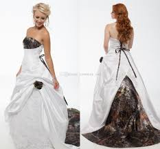 strapless white ball gown camo wedding dresses strapless appliques