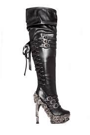 s heel boots size 11 hades footwear lokie choose size 6 11 high heel boots black