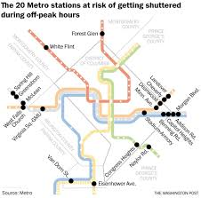 Metro Station Map by The 20 Stations Metro Could Close During Off Peak Hours To Save