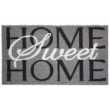 halloween doormat amazon com j u0026 m home fashions home sweet home vinyl back coco