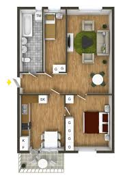 One Bedroom Apartment Floor Plans by 40 More 2 Bedroom Home Floor Plans