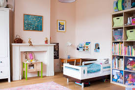 Eclectic Kids Room In Eggshell Pink Interiors By Color - Kids rooms houzz