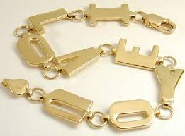 gold love you bracelet images I love you link bracelet 7 5 grams of 14k gold 7 quot jewelry jpg