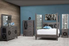 Two Tone Blue Bedroom Gray American Made Bedroom Furniture Countryside Amish Furniture