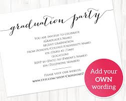 Name Cards For Graduation Invitations Graduation Party Details Card Insert Grad Party Information