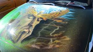 color changing jesus paint job on classic car youtube