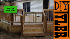 How To Build A Handrail On A Deck Diy 2x4 Deck Gate 003 Youtube