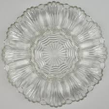 glass egg plate anchor hocking glass deviled egg plate 896 clear pattern