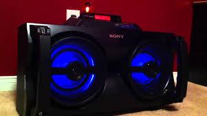 sony high powered bluetooth light up speaker gtk xb5 sony powerful g tank ipod speaker dock youtube