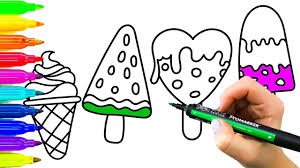 drawing and coloring ice cream colouring pages ice cream for