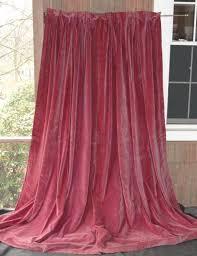 Pink Velvet Curtains Antique Magenta Velvet Drapes Curtains 1800 S Fabric