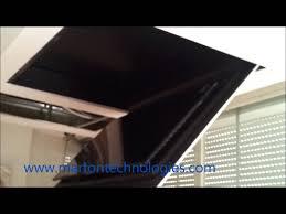 motorized silent ceiling flip fold down lift tv 55 u0027 u0027 marton