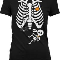 twin pregnant skeleton shirt halloween from jackpottees