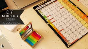 Desk Decor Ideas by Diy Notebook Desk Decor Ideas Youtube