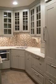 Kitchen Sink With Backsplash by Cherry Wood Espresso Amesbury Door Corner Kitchen Sink Cabinet