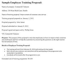 sample proposal for services employee training proposal sample