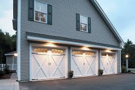 Barn Garage Doors Atlanta Carriage Style Garage Farmhouse With Gray Exterior Homes