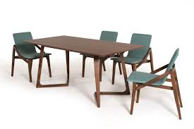 modrest jett mid century walnut dining table
