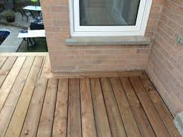 aurora deck during construction decking border architectural