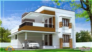 Simple Modern Home Design In  Square Feet Kerala Home Design - Design of home