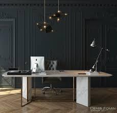 the black parisian interior design for home office decoholic