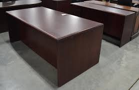 Brown Office Desk Brown Mahogany Wood U Shaped Mingle Executive Office Desk With