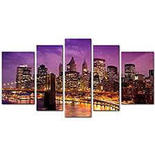 New York City Home Decor Amazon Com Canvas Print Wall Art Painting For Home Decor Purple