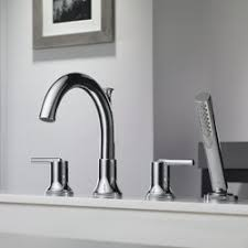Delta Trinsic Bathroom Faucet by Delta Trinsic Bathroom Double Handle Deck Mount Roman Tub Trim