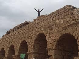 caesarea in israel ancient ruins harbor u0026 beach