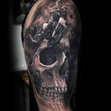 3d skull motocross mx mens tattoos tatuajes