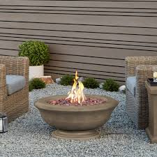 Concrete Fire Pit by Real Flame Treviso Round 32 In Fiber Cast Concrete Fire Pit In