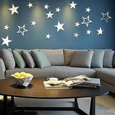 online get cheap star mirror wall decals aliexpress com alibaba