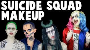 squad makeup transformations the joker harley quinn